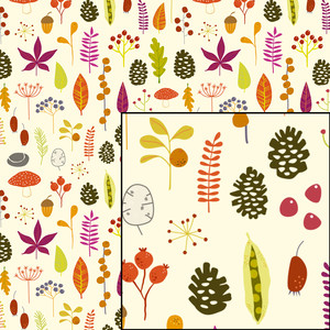 autumn fall woodland nature pattern