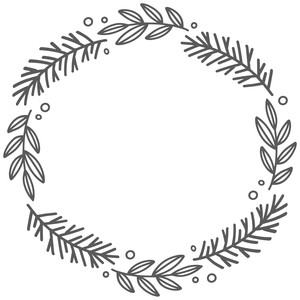 pine and leaf wreath