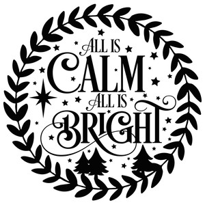 all is calm all is bright wreath