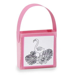 flamingo coloring treat bag