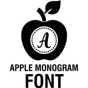 apple monogram font