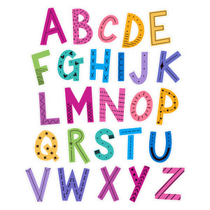 alphabet sticker set