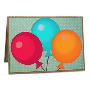 a2 balloon pop-up card