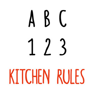 kitchen rules font