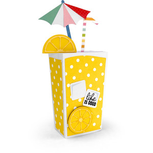 box card lemonade glass