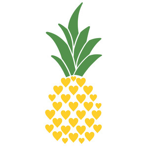 hearts pineapple