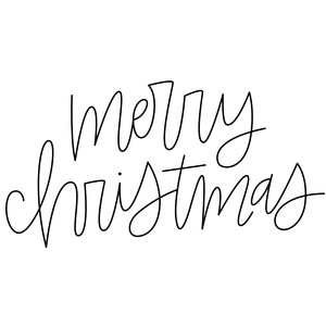 sketch handwritten merry christmas phrase