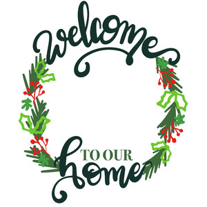 christmas welcome to our home wood sign
