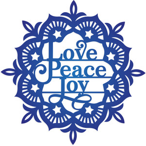 love peace joy christmas ornament