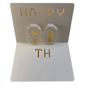 happy 80th popup card