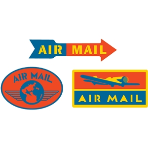airmail labels