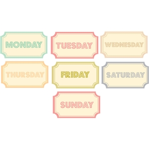 days of the week tickets