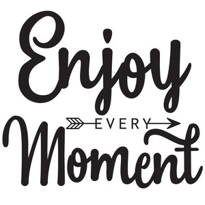 enjoy every moment arrow quote