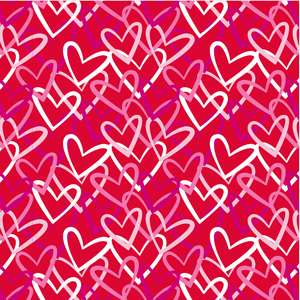 valentine's day multi heart pattern