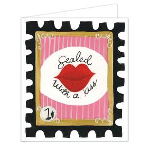 sealed with a kiss stamp folded card