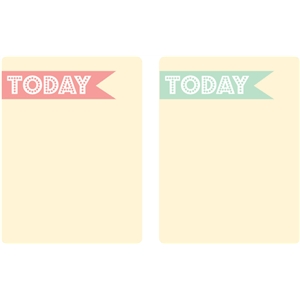 today journaling cards - set 1 (teal & pink)