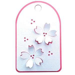 cherry blossom 3d gift tag