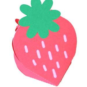 folding strawberry card