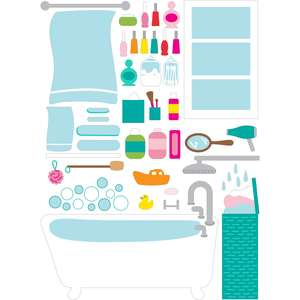 dollhouse stickers bathroom