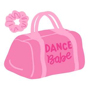dance babe bag and scrunchie