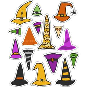ml witch hats and such stickers