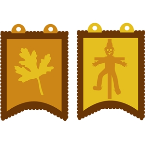 scarecrow & leaf pennants
