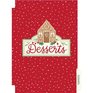 holiday cookbook desserts divider