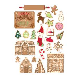 holiday cookbook gingerbread stickers