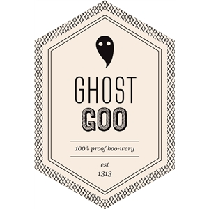 ghost goo beverage label
