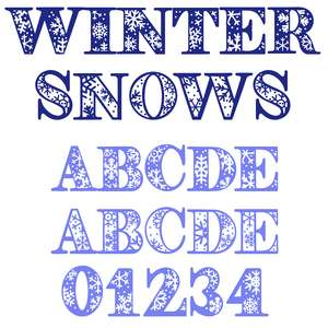 winter snows font