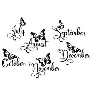 butterfly months - july to december