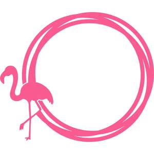flamingo circle frame