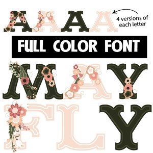 mayfly color font