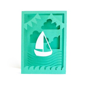 sailboat accordion card