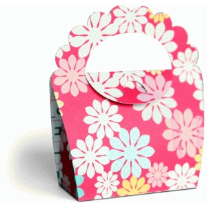 3d scalloped purse party favor box