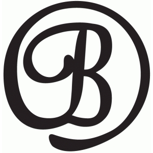 round flourish monogram - b
