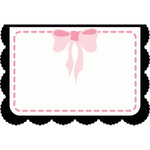 a2 card with bow