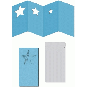 nested stars accordion windows card w envelope