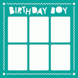 birthday boy photo frame