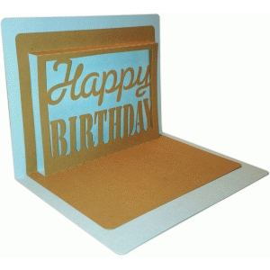 happy birthday pop up card 5x7