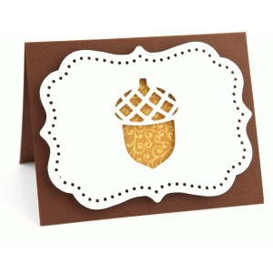 a2 fall acorn pop dot card