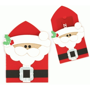 santa claus gift card holder