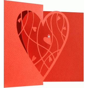 heart accordion card