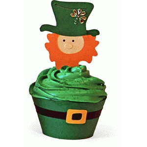 cupcake wrapper - leprechaun