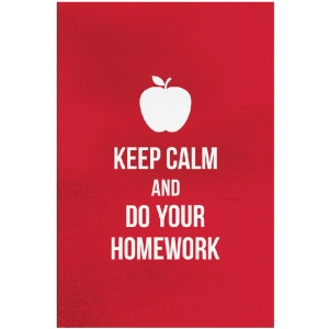 keep calm and do your homework card