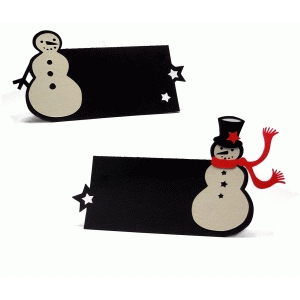 two snowman placecards