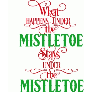 what happens under the mistletoe saying