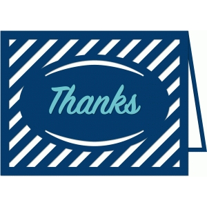 a2 stripe thank you card