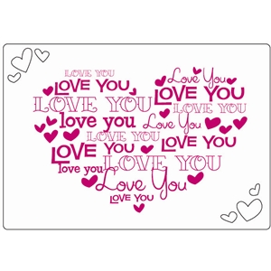 love you word heart