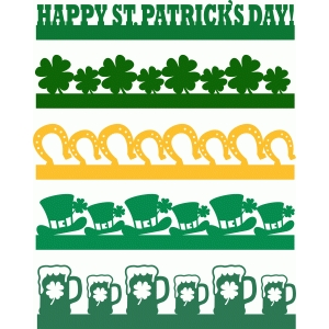 happy st patricks day borders set
